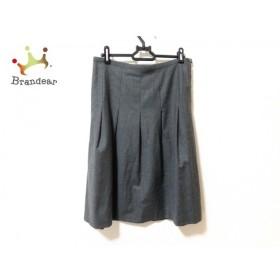 アニエスベー agnes b スカート サイズ38 M レディース 美品 ダークグレー 新着 20190902