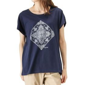 T-GRAPHICS(ティーグラフィックス) ドルマンユーゲンTシャツ 半袖Tシャツ クルーネック ドルマン EJ193-WC150 レディース ネイビー:M