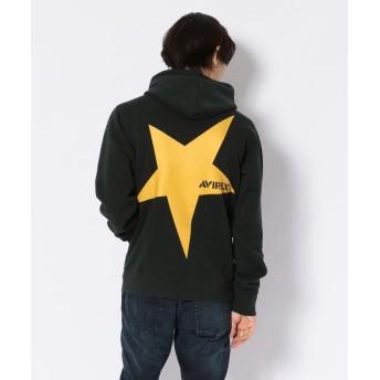 【20%OFF】 アヴィレックス ビッグスター プルパーカー/BIG STAR PULL PARKA メンズ D/GREEN XL 【AVIREX】 【セール開催中】