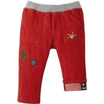 ミキハウス 【アウトレット】星ワッペン付き プッチーストレッチパンツ 赤