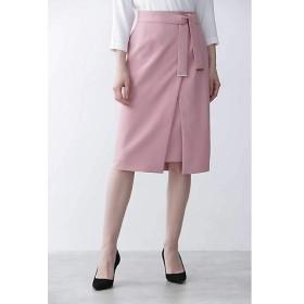 【SALE(三越)】<PINKY & DIANNE> [ウォッシャブル]メタルプレートベルト付ラップスカート(0319220817) ピンク【三越・伊勢丹/公式】