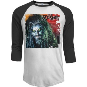 MarshallDメンズRob Zombie 3/4スリーブラグラン野球TシャツブラックM