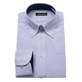 首回りが調整できて楽な汚れが目立ちにくい形態安定デザインワイシャツ(ボタンダウン) (ワイシャツ)