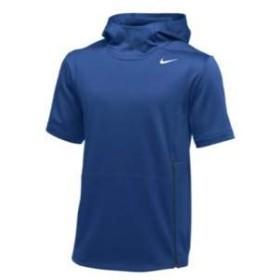 ナイキ メンズ フーディー Nike Team Authentic Therma S/S Top 半袖 パーカー Game Royal/Black/White_M [並行輸入品]