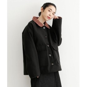 メルロー ポイントチェック柄ジャケット レディース ブラック FREE 【merlot】