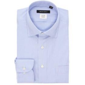 【THE SUIT COMPANY:トップス】【THERMO LITE】ワイドカラードレスシャツ ハウンドトゥース〔EC・BASIC〕