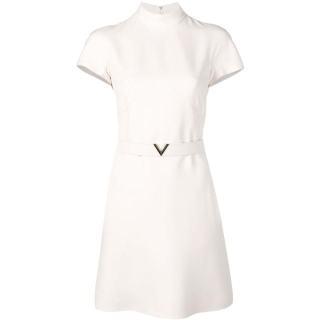 Valentino Vベルテッド ドレス - ニュートラル