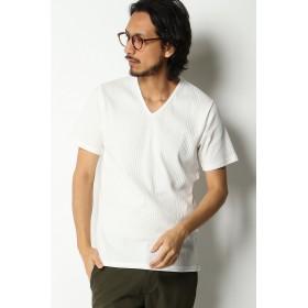 カットソー - ikka GP ランダムテレコVネックTシャツ