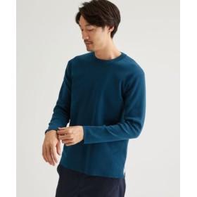 (green label relaxing/グリーンレーベルリラクシング)CM オタゴウール クルーネック セーター/メンズ COBALT 送料無料
