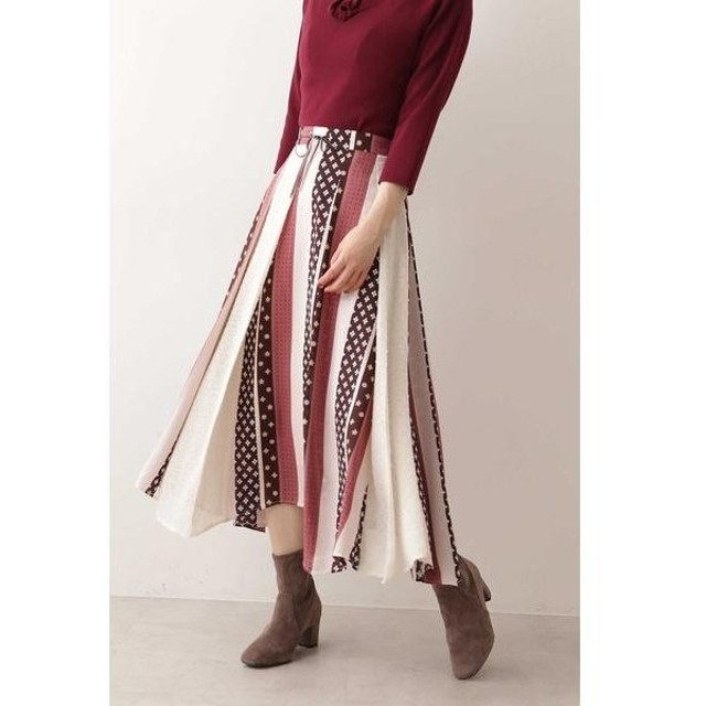 PROPORTION BODY DRESSING / プロポーションボディドレッシング  《EDIT COLOGNE》ヴィンテージスカーフプリントスカート