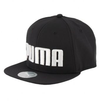 プーマ ジュニア キャップ プーマ フラットブリム キャップ Jr (021683 01) キッズ 子供 スポーツウェア帽子 : ブラック PUMA