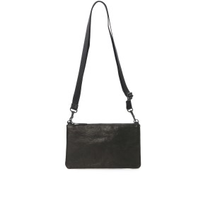 PATRICK STEPHAN Leather minimini sacoche 'shine' ショルダーバッグ,B.BLACK
