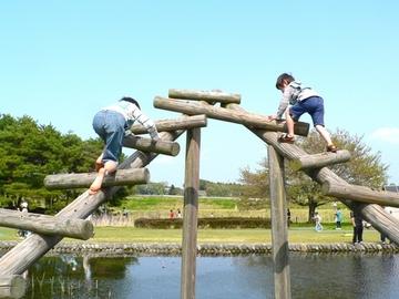 千葉県野田市の清水公園アスレチック施設