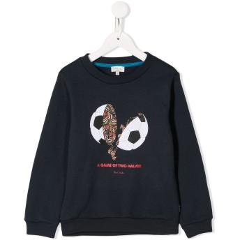 Paul Smith Junior printed football sweater - ブルー