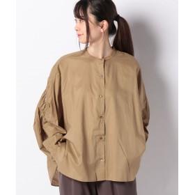マーコート back gathered shirt レディース BEIGE f 【MARcourt】