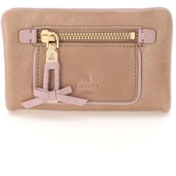 LANVIN en Bleu(BAG) LANVIN en Bleu ランバンオンブルー アメリ 二つ折り財布 財布,ライトベージュ