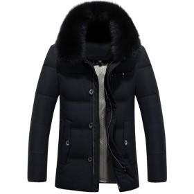 ダウンジャケット メンズ 冬 分厚い 中綿ダウン 防寒コート 大きいサイズ カジュアル 保温 暖かい アウター ダウンコート 棉服 高品質 L-4XL キャメル カーキ色