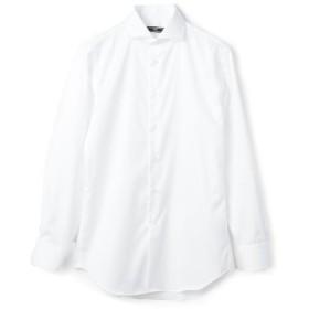 シップス SD: イージーアイロン ツイル ソリッド ホリゾンタルカラー シャツ メンズ ホワイト 40 【SHIPS】