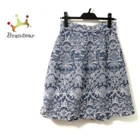 ケイタマルヤマ KEITA MARUYAMA スカート サイズ1 S レディース 美品 ブルー×白 刺繍 新着 20190903
