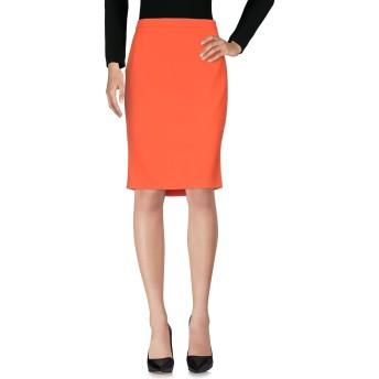 《セール開催中》BOUTIQUE MOSCHINO レディース ひざ丈スカート オレンジ 48 トリアセテート 70% / ポリエステル 30%