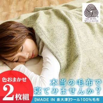 ◇MADE IN 泉大津 ウール100%職人毛布