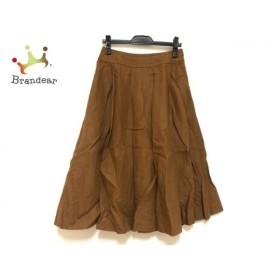 マーガレットハウエル MargaretHowell スカート サイズ3 L レディース ブラウン リネン 新着 20190930