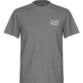 《セール開催中》EA7 メンズ T シャツ グレー S コットン 95% / ポリウレタン 5%