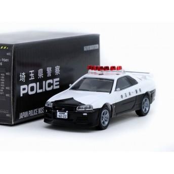 1/64 Greenlight x Tarmac Works Nissan GT-R R34 Japan Police