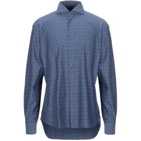 《セール開催中》CALLISTO CAMPORA メンズ シャツ ダークブルー 43 コットン 100%
