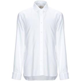 《期間限定セール開催中!》MAURO GRIFONI メンズ シャツ ホワイト 41 コットン 100%