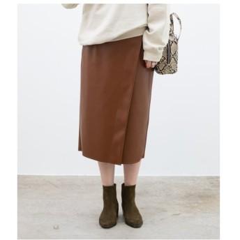 ROPE' / ロペ エコレザーラップタイトスカート