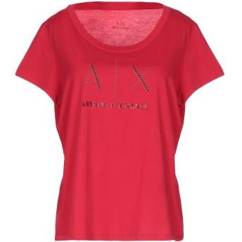 《9/20まで! 限定セール開催中》ARMANI EXCHANGE レディース T シャツ レッド XL コットン 100%