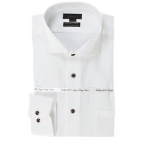 【m.f.editorial:トップス】綿100% 形態安定 スリムフィットカッタウェイ長袖SHUTOビジネスドレスシャツ/ワイシャツ