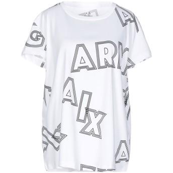 《9/20まで! 限定セール開催中》ARMANI EXCHANGE レディース T シャツ ホワイト L コットン 100%
