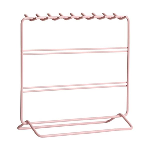 耳環收納架鐵藝項鏈戒指耳釘掛架ins風桌面簡約首飾收納展示架