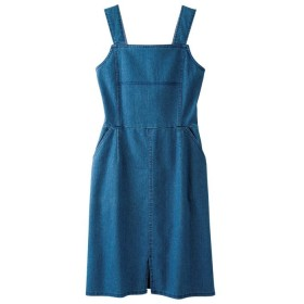GeeRA バックリングデザインデニムワンピース ブルー LL レディース 5,000円(税抜)以上購入で送料無料 ワンピース 夏 レディースファッション アパレル 通販 大きいサイズ コーデ 安い おしゃれ お洒落 20代 30代 40代 50代 女性 ワンピース ドレス