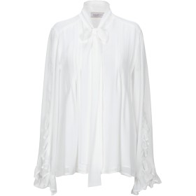 《セール開催中》ANNARITA N レディース シャツ ホワイト 38 ポリエステル 100%