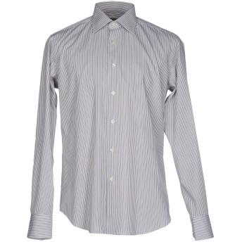 《セール開催中》PAL ZILERI メンズ シャツ グレー 40 コットン 100%