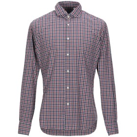 《セール開催中》XACUS メンズ シャツ ボルドー 40 コットン 100%