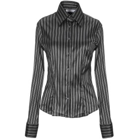 《セール開催中》GUGLIELMINOTTI レディース シャツ ブラック 42 ポリエステル 100%