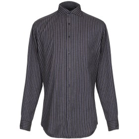 《期間限定セール開催中!》MESSAGERIE メンズ シャツ ブルー 41 コットン 100%