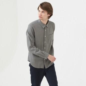 AIGLE メンズ メンズ コットンフランネル 長袖無地シャツ ZCH043J ライトヘザーグレー (103) シャツ・ポロシャツ