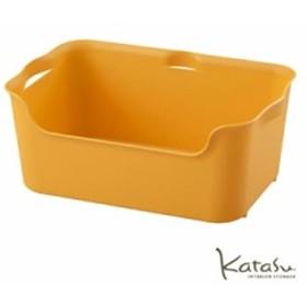収納ボックス KataSu ( カタス )  サンイデア Squ+ おしゃれ 収納 ケース 収納ケース ボックス インテリアハコ M イエロー カラーボック