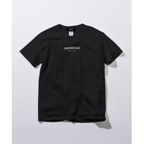 SHIFFON 1PIU1UGUALE3 RELAX(ウノピゥウノウグァーレトレ) フロントロゴプリントTシャツ メンズ ブラック M 【SHIFFON】