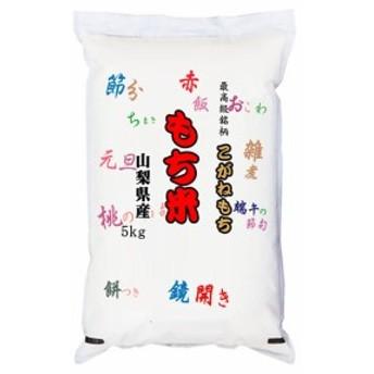 最高級もち米 30年産山梨県産こがねもち 白米5kgx1袋