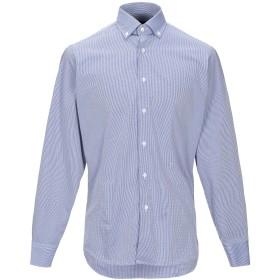 《期間限定セール開催中!》TRU TRUSSARDI メンズ シャツ ブルー 39 コットン 100%
