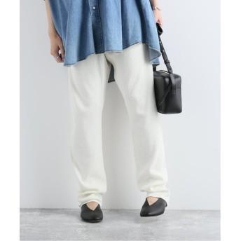 ジャーナルスタンダード WAFFLE PANTS:パンツ レディース ホワイト M 【JOURNAL STANDARD】