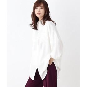 【SALE(伊勢丹)】<OZOC/オゾック> [洗える]ドロップショルダーチュニックシャツ(2001568028) シロ【三越・伊勢丹/公式】