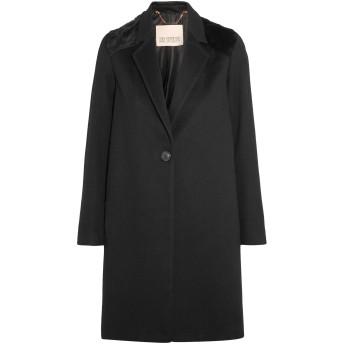 《セール開催中》KARL DONOGHUE レディース コート ブラック M ウール 100% / 羊革(ラムスキン)