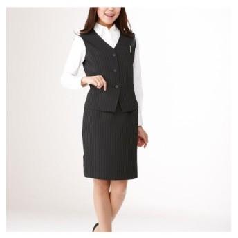 【事務服。ベストスーツ】3点セット(ベスト+2タイトスカート)(丈52cm) (大きいサイズレディース)事務服,women's suits ,plus size
